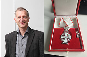 Matthias Mann receives The Order of Dannebrog Knights Cross